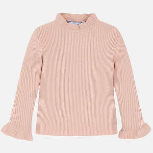 Mayoral Girls Long Sleeve Ribbed Layering Tee - Blush