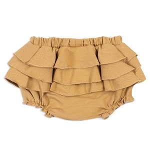 Rust Denim Baby Ruffle Bloomer
