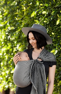 Moby Wrap Ring Sling - Jet Ribbons
