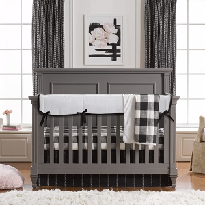 Liz and Roo Crib Bedding Set - Modern Black & White