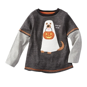 Mud Pie Halloween Tee - Dog Ghost