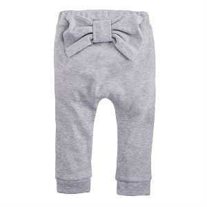 Mud Pie Grey Bow Pants