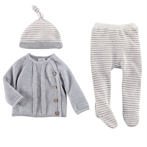 Mud Pie Grey Cable Knit Take Home Set