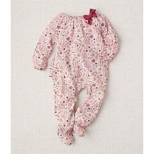 Mud Pie Pink Muslin Forest Friends Sleeper