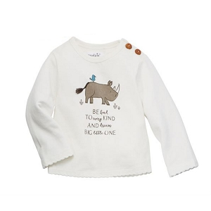 Mud Pie Safari Tiny Tee - Rhino