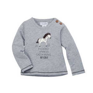 Mud Pie Safari Tiny Tee - Zebra