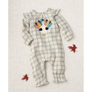 Mud Pie Turkey Ruffle Romper