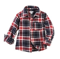 Mud Pie Flannel Button Down - Red
