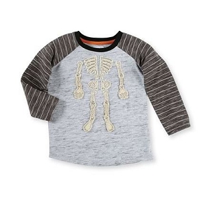 Mud Pie Halloween Tee - Skeleton