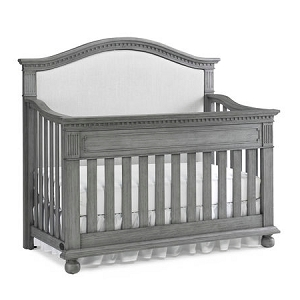 Dolce Babi Naples Upholstered Convertible Crib - Nantucket Grey