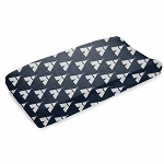 Liz and Roo Contoured Changing Pad Cover - Navy Teepee