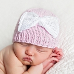 Huggalugs Newborn Bow Hat