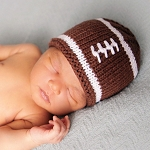 Huggalugs Newborn Football Hat