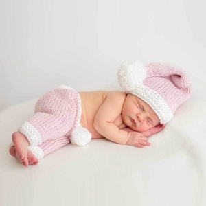 Pink Sparkle Santa Newborn Set