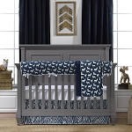 Liz and Roo Navy Woodland Bedding