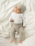 Little Brother Onesie - White & Grey
