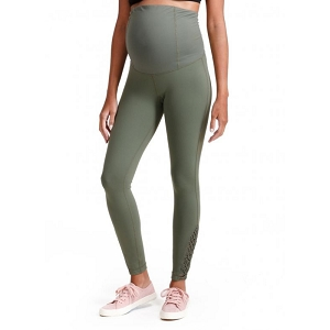 Active Macrame Legging ft. Crossover Panel - Olive