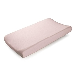 Liz and Roo Contoured Changing Pad Cover - Petal Pink Linen