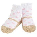 Mud Pie Pink Heart Socks