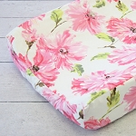 Caden Lane Pink Petunia Changing Pad Cover