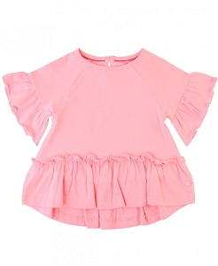 RuffleButts Mia Top - Pink