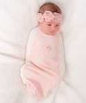 Frilly Pink Bow Cocoon Set