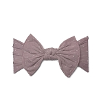 Bow Knot Headband - Mauve Dot