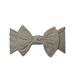 Bow Knot Headband - Taupe Dot