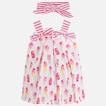 Baby Girl Print Dress & Headband - Cool Treats