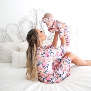 Posh Peanut Mommy Robe - Dusk Rose