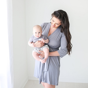 Posh Peanut Mommy Robe - Stone Grey