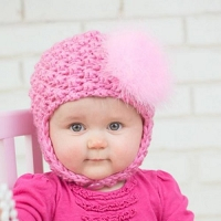 Candy Pink Pretty Pixie Hat with Candy Pink Regular Marabou