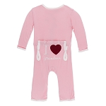 KicKee Pants Applique Coverall in Lotus - I Love Grandma