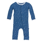 KicKee Pants Print Coverall with Snaps - Twilight Starry Sky