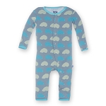 KicKee Pants Print Coverall - Dusty Sky Porcupine