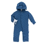 Kickee Pants Coverall with Sherpa Lined Hoodie - Twilight Megalodon