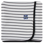 Kickee Pants Swaddling Blanket - Neutral Parisian Stripe