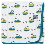 Kickee Pants Swaddling Blanket - Blackbirds
