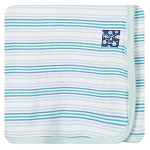 Kickee Pants Swaddling Blanket - Boy Desert Stripe