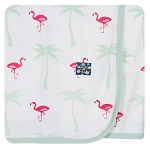 Kickee Pants Swaddling Blanket - Natural Flamingo