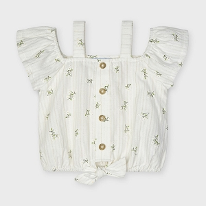Mayoral Off White Printed Blouse