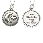 CM Moon and Back Sterling Silver Necklace