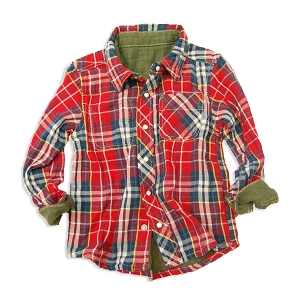 Reversible Button Up Shirt - Red