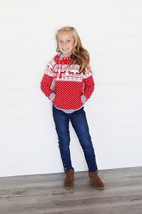 DoubleHood™ Kids Sweatshirt - Reindeer Games