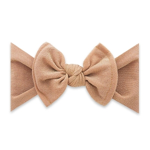 Bow Knot Headband - Shimmer Metallic Rose Gold