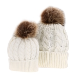 Mommy & Me Hat Set - Cream
