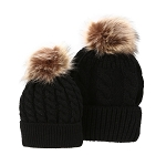 Mommy & Me Hat Set - Black