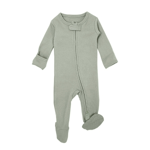 Organic Long Sleeve Footed Overall - Seafoam