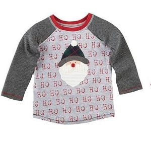 Mud Pie Alpine Village Tee - Santa