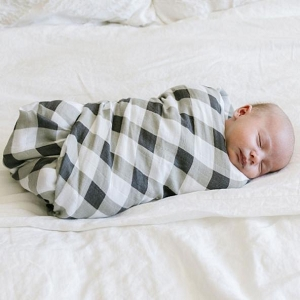 Saranoni Bamboo Swaddle Blanket - Buffalo Plaid